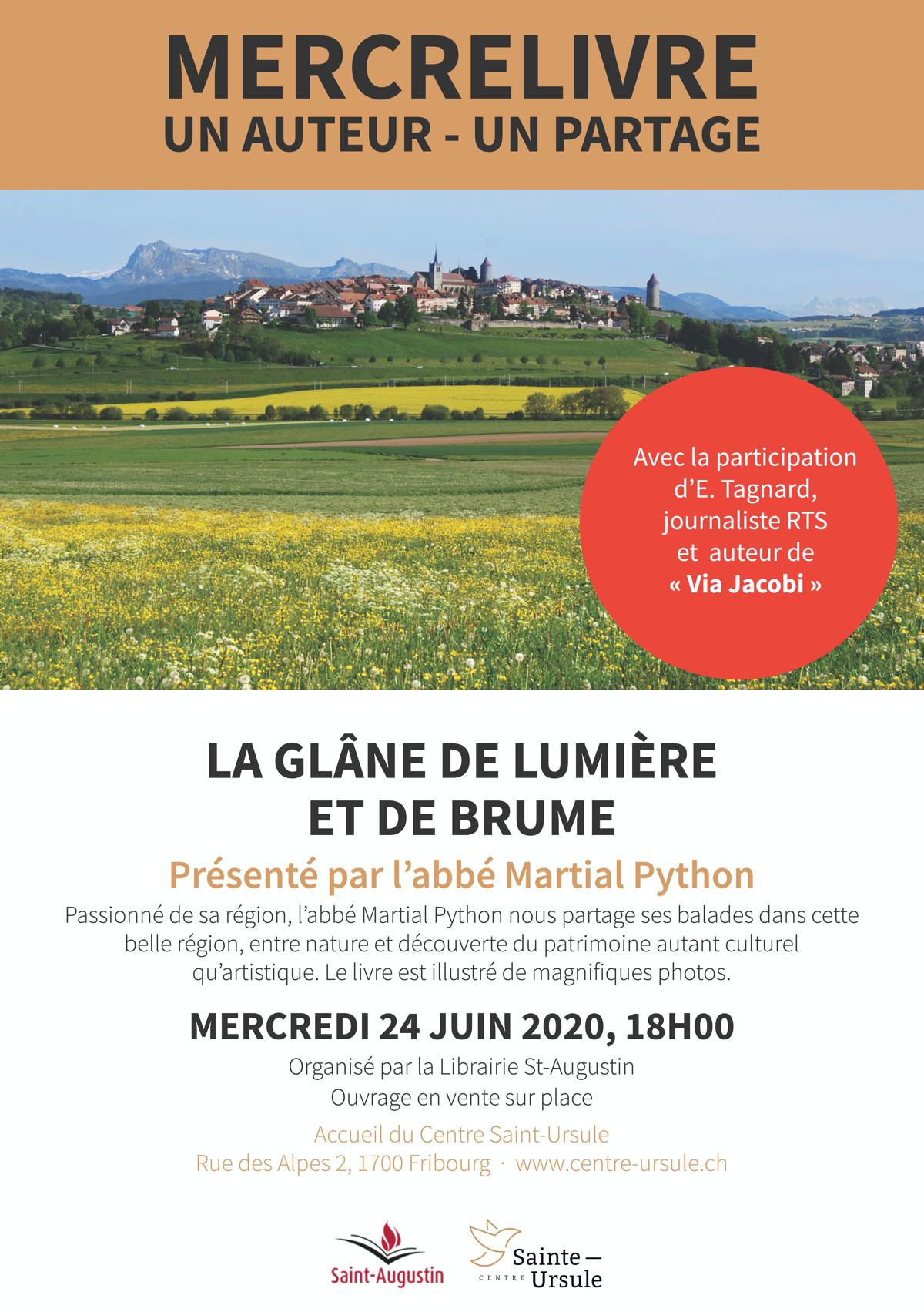 mercreLIVRE avec Martial Python et Emmanuel Tagnard –24 juin de 18h à 19h30 –Fribourg